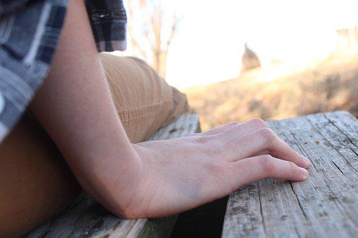 Hand, Arm, Sleeve, Flannel, Wood, Bridge, Aesthetic