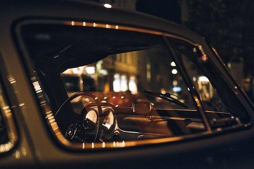 Porsche, Antique, Retro, Auto, Night