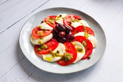 Mozzarella Salad, Mozzarella Caprese, Caprese Salad