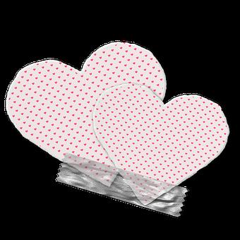 Hearts, Tape, Grunge, Love, Design, Romantic, Graphics