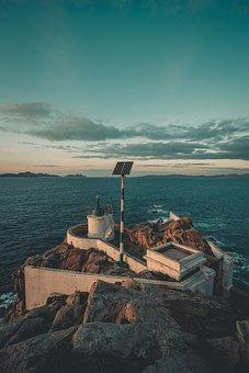 Lighthouse, Sea, Island, Ocean, Sky, Coast, Light