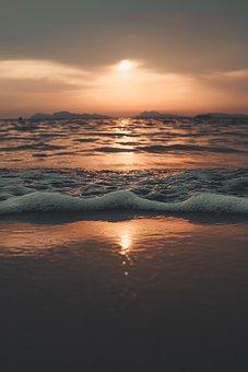 Bubble, Sunset, Frozen, Afterglow, Bubbles, Ice