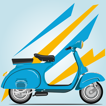 Scooter, Wallpaper, Background, Vehicle, Vespa, Classic