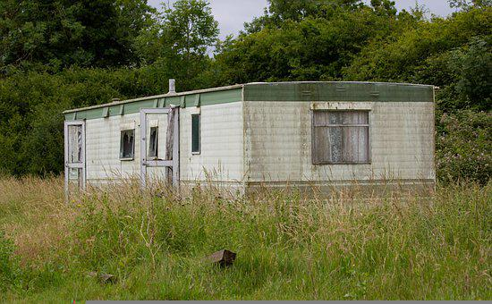 Abandoned Building, Old Trailer, Mobile Home, Derelict