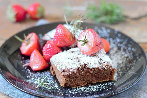 Chocolate, Cake, Strawberry, Strawberry Cake, Dessert