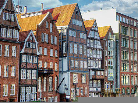 Hamburg, Dyke Road, Northern Germany, Historic Building