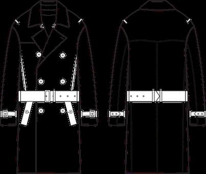 Coat, Fashion Sketch, Fashion Vector, Fashion Sketches