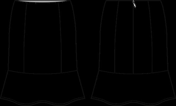 Skirt, Fashion Sketch, Fashion Vector, Fashion Sketches