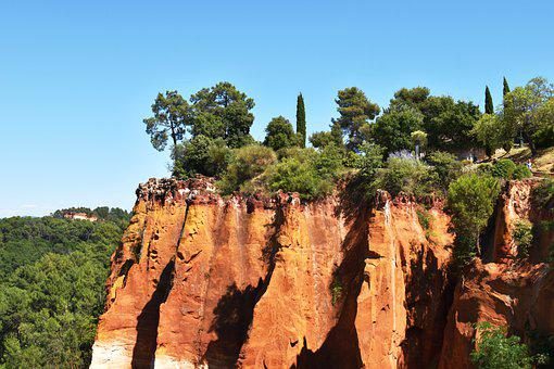 Nature, France, Provence, Luberon, Roussillon, Ocher