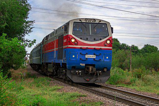 Kazakhstan, Train, Te33a, Railway