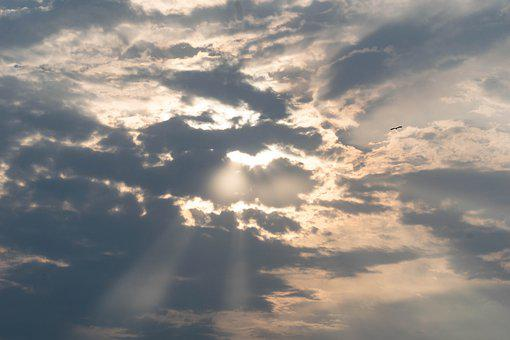 Sun, Sunrise, Sunrays, Sky, Clouds, Dawn, Summer