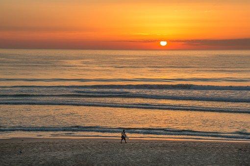Surf, Sunset, Scenic, Nature, Sky, Summer, Twilight