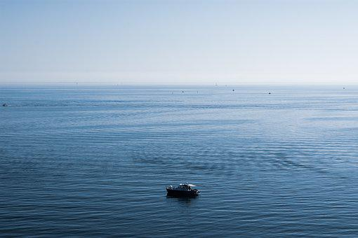 Boat, Ocean, Sea, Sunset, Sky, Ship, Nature, Water
