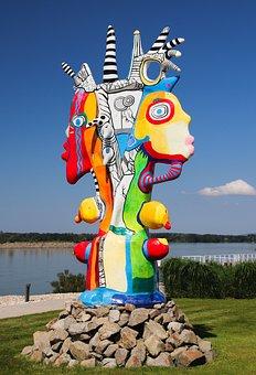 Sculpture, Art, Modern, Abstract, Color, Varied