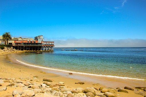 Monterey, Wharf, California, Pier, Scenic, Tourism