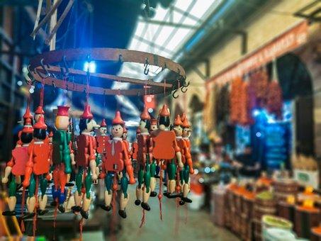 Puppet, Toy, Bazaar, Shopping, Gaziantep, Turkey