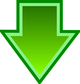 Arrow, Download, File, Glossy, Green