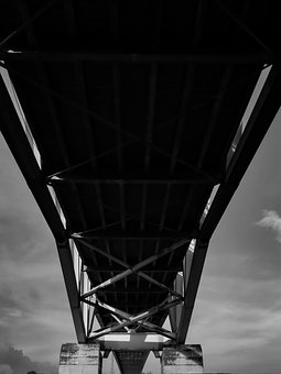 Bridge, History, Landmark, Architecture Black And White
