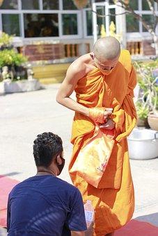 Priest, พระ, Monks, Merit, Religion, I Pray, Asia