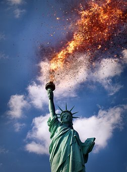 Statue Of Liberty, Fire, Flame, New York, Burn, Hot