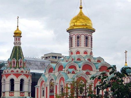 Russia, Moscow, Kremlin, Basilica, Orthodox