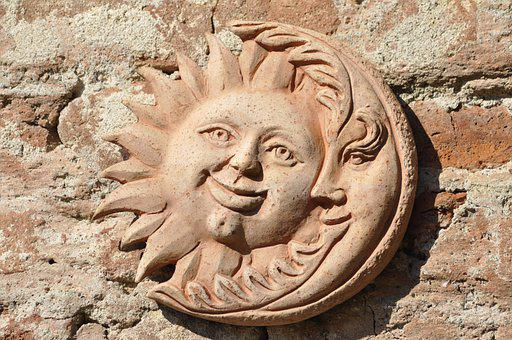 The Sun And The Moon, Sun, Luna, Ceramics, Pottery