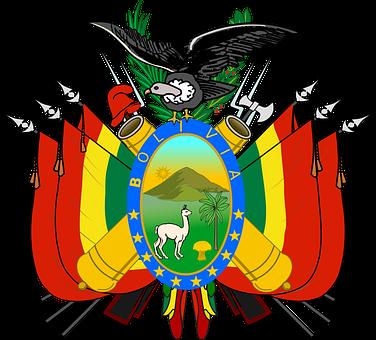 Bolivia, Coat, Arms, Flag, Crest, Bolivian, Country