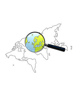 Search, World, Web, Business, Globe, Map, Continents