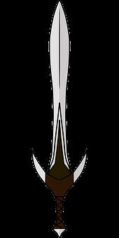 Elven, Short, Sword, Weapon, Sword