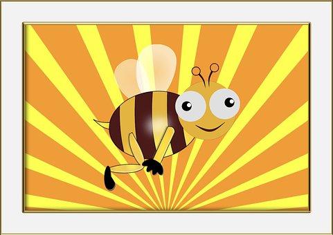 Funny, Bee, Children's Room, Fun, Infant, Baby