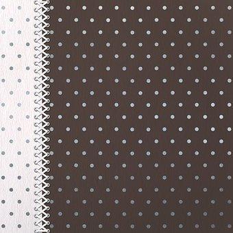 Scrapbooking, Pattern, Black, Silver, Dots