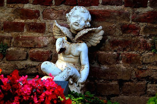 Cemetery, Grave, Cherub, Angel