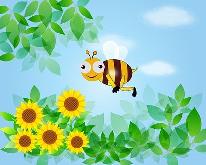 Bee, Nature, Children's Room, Fantasy, Children, Infant