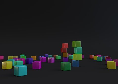 Cubes, 3d, Render, Plastic, Geometry, Cube, Animation