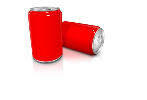 Red, Can, Drink, Design, Color, Metal, Tin, Icon