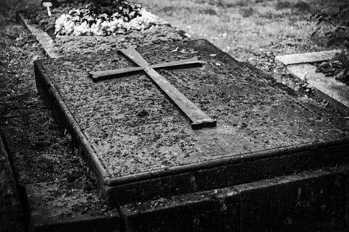 Grave, Cemetery, Monochrome, Tombstone, Death, Mourning