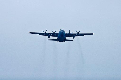Aerial, Lockheed Martin C-130 Hercules, Jet, Pane Navy