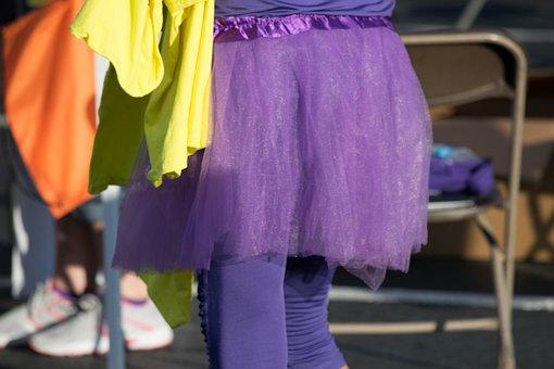 Skirt, Purple, Chiffon, Unique, Tutu, Charity