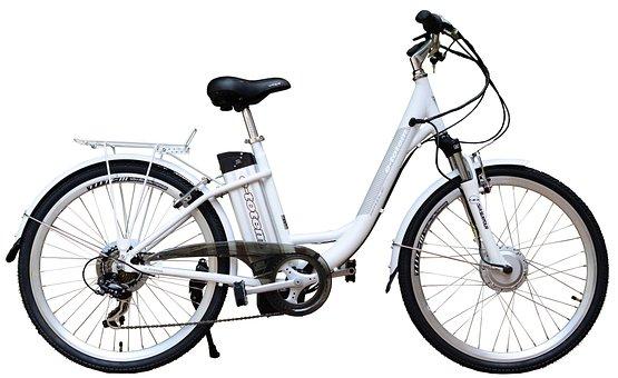 Electric, E-bike, Bike, White, Background