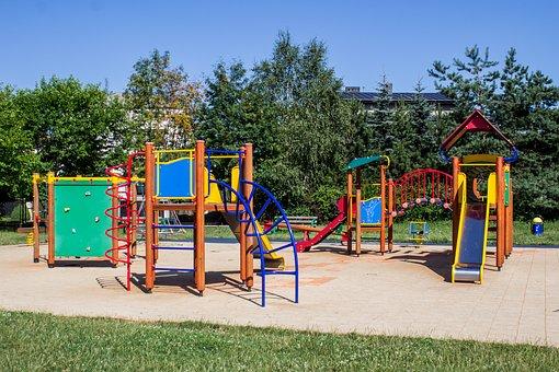 Playground, Fun, Children, Entertainment, Slide