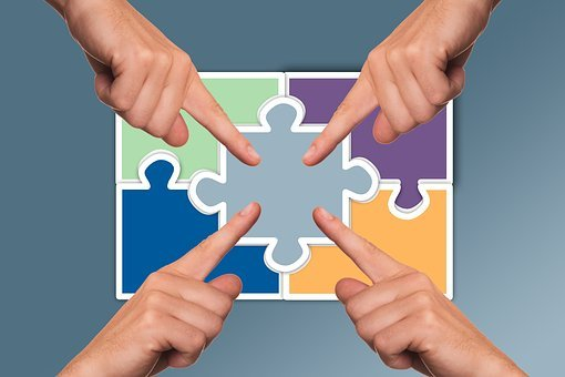 Hands, Puzzle, Share, Items, Joining Together, Finger