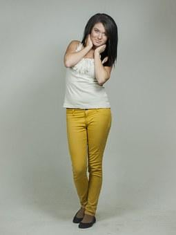 Brunette, Full, Body, Whole Person, Posing, Girl, Woman