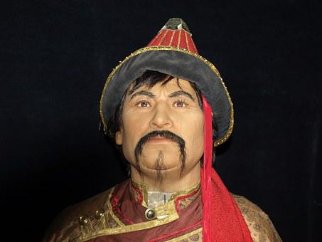 Genghis Khan, Portrait, Wax Figures, Temujin, Mongolia