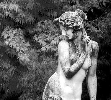 Model, Statue, Garden, Greek, Goddess, Sculpture