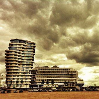 Marco Polo Tower, Hamburg, Harbour City, Germany, Port