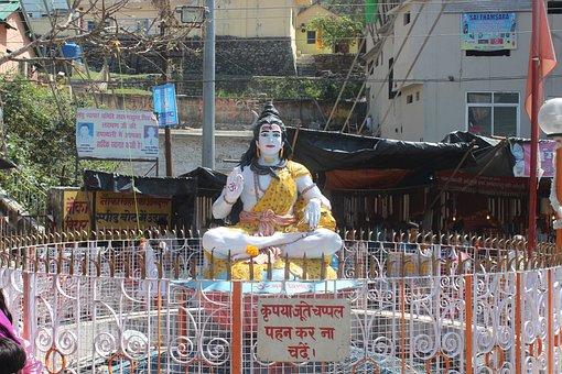 Rishikesh, Uttarkhand, Statue, Hari Om, God, Hindu