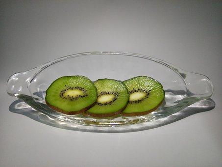 Kiwi, Kiwi Slices, Glass, Banana Boat, Kiwi Green Heart