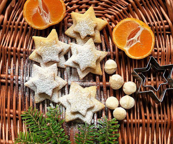 Cookie, Christmas, Macadamia, Nuts, Mandarin, Advent