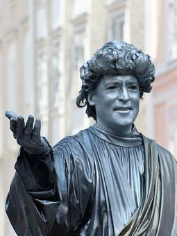 Mozart, Live, Sculpture, Salzburg, Austria, Man