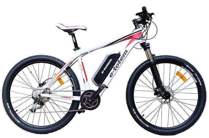 Mountain Bike, Mtb, Electric, Bike, White, Background